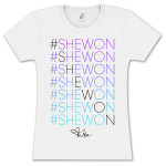 Tamar #Shewon Stacked Gradient Girlie T-Shirt