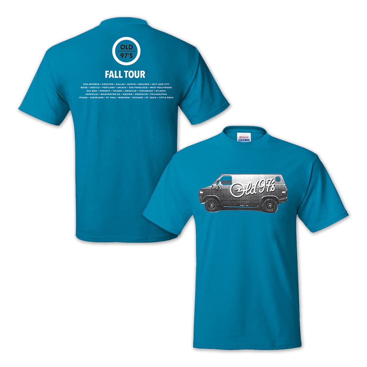 Old 97s 2015 Fall Tour Men's T-Shirt Teal