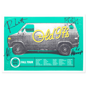 "Old 97's Fall 2015 ""Van� Signed Tour Poster"