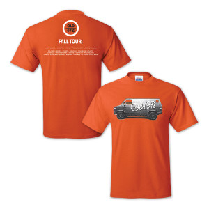 Old 97s 2015 Fall Tour Men's T-Shirt Orange