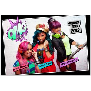 OMG GIRLZ 2012 Tour Cartoon Poster