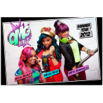 OMG GIRLZ 2012 Tour Cartoon Poster