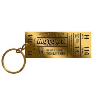 Brass Ticket Keychain