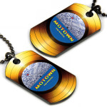 Record Dog Tag w/ Chain