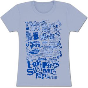 FPSF 2011 Lineup Ladies' T-Shirt