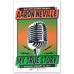 Aaron Neville My True Story Signed Poster