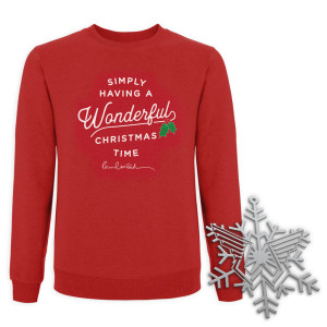 Wonderful Christmas Time Sweatshirt and Ornament Bundle