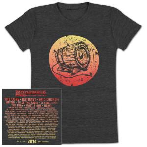 Bottle Rock Napa Valley Women's Lineup T-Shirt– Charcoal