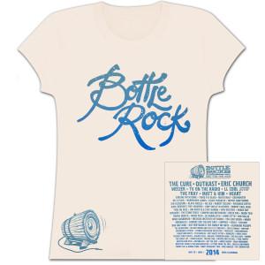 Bottle Rock Women's Lineup – Cream T-Shirt