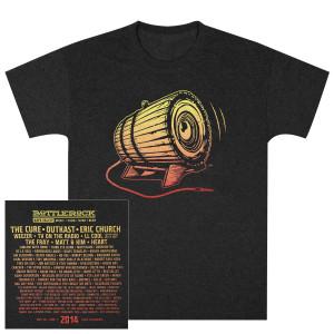 Bottle Rock Men's Lineup Tee – Charcoal T-Shirt