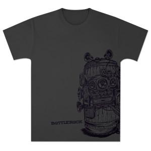 Bottle Rock Napa Valley Men's Crew Neck Dark Grey Heather T-Shirt
