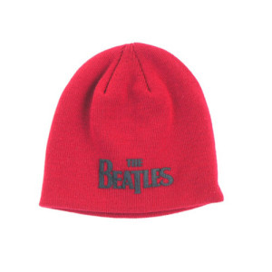 The Beatles Logo Red Beanie