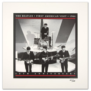 The Beatles First Visit Live Lithograph