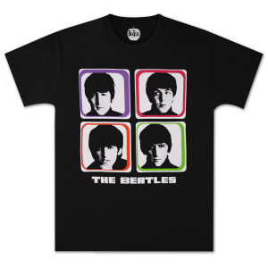 The Beatles Four Colored Squares T-Shirt