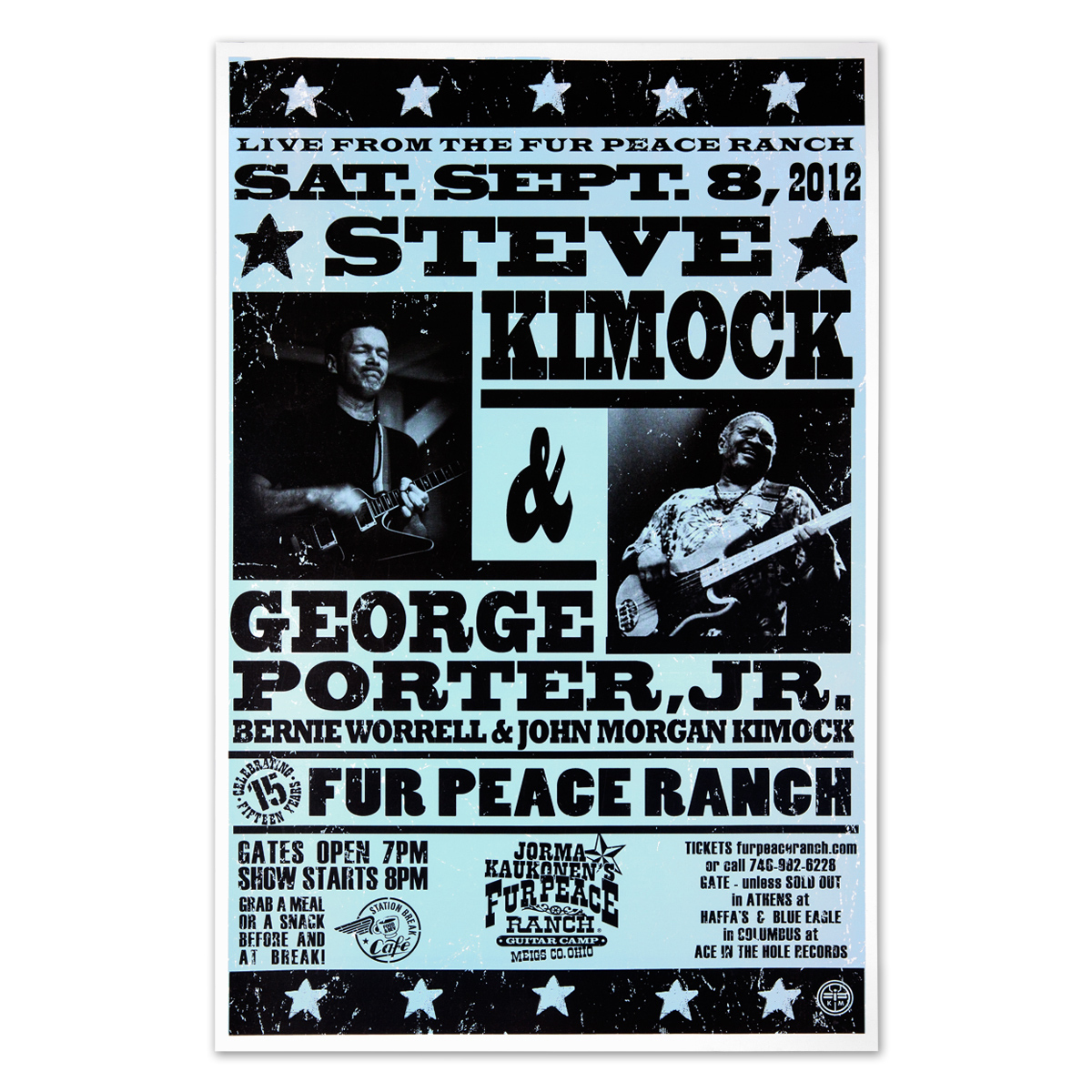 Steve Kimock Live from the Fur Peace Ranch 9/08/12 Poster