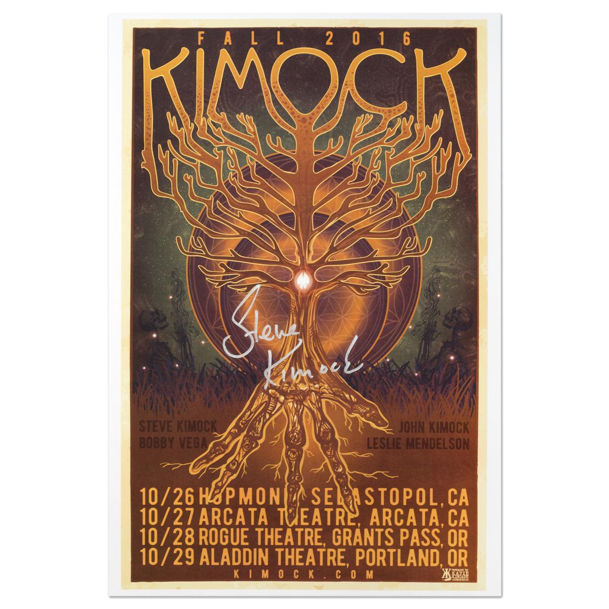 Steve Kimock Fall 2016 Tour Poster