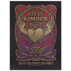 Steve Kimock March 2015 Heart and Wings Poster