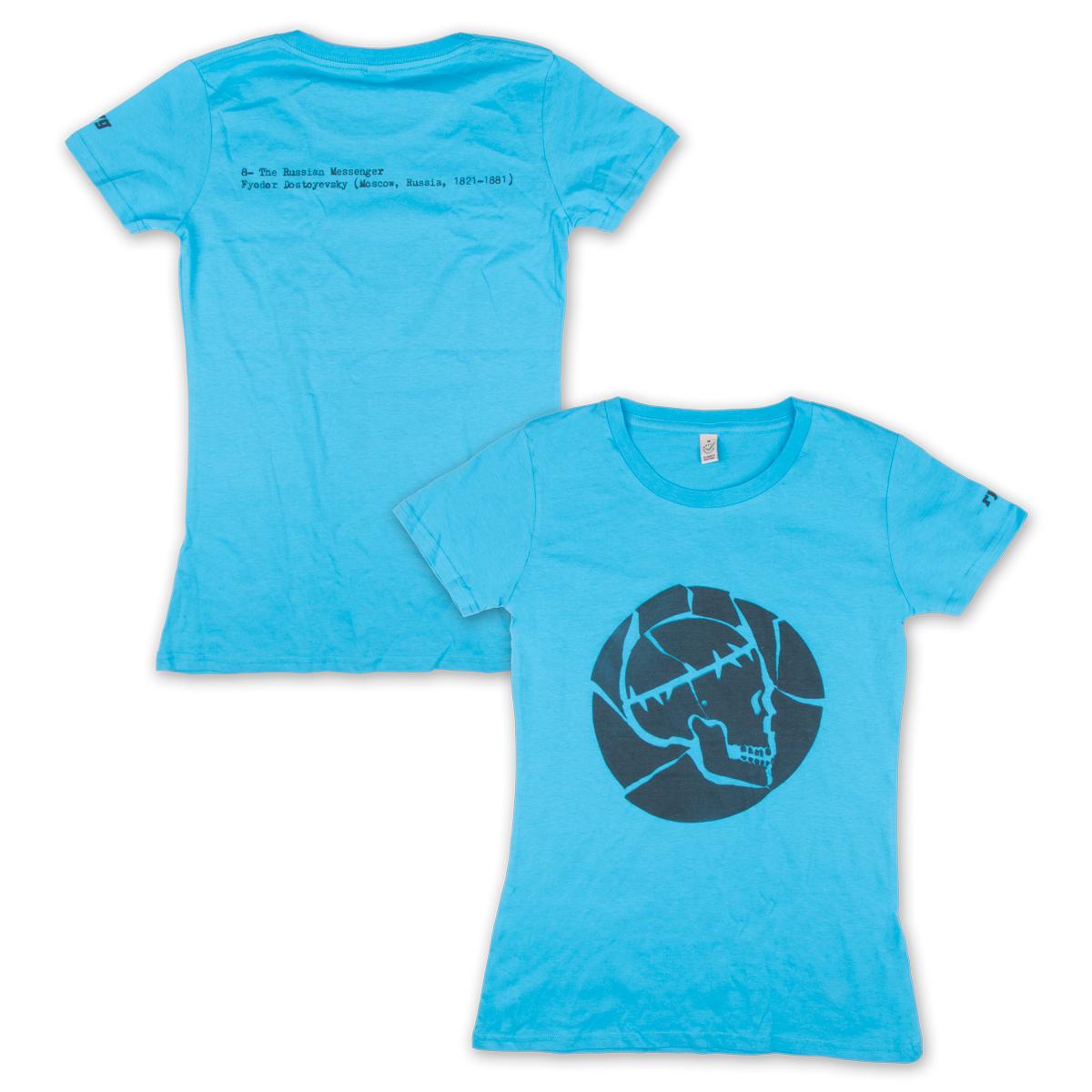 Rodrigo y Gabriela Women's Russian Messanger Skull T-Shirt
