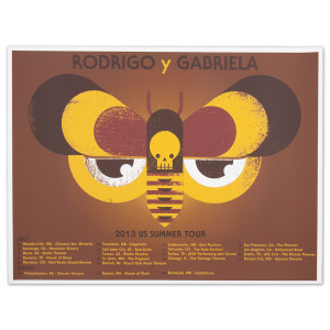 Rodrigo y Gabriela 2013 US Summer Tour Poster