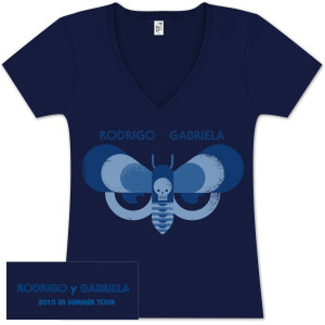 Rodrigo y Gabriela 2013 Tour Ladies V Neck