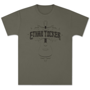 Ethan Tucker Acoustic Unisex T-Shirt - Army Green
