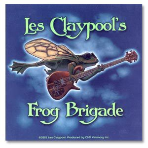 Les Claypool Flying Frog Sticker