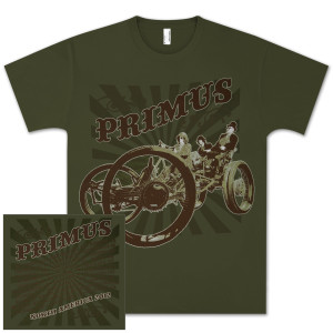 PRIMUS 2012 North American Tour Unisex T-shirt (Spring/Summer Dates)