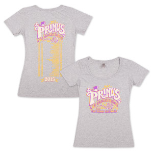 Primus & The Chocolate Factory with Fungi Ensemble Ladies Tour Date T-Shirt