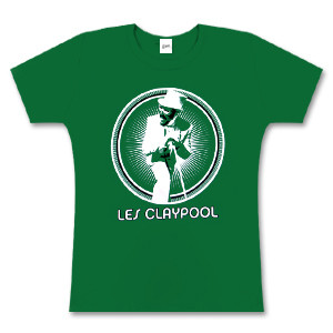 Women's Green Les Claypool Burst T-Shirt