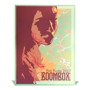 Boombox Red Rocks 2017 Poster