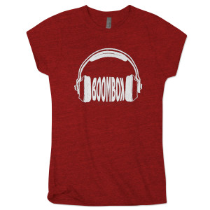 BoomBox Ladies Red Headphones