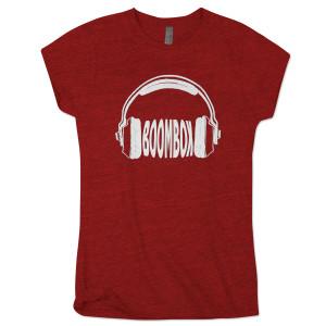 BoomBox Ladies Red Headphones