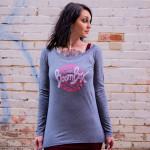 BoomBox Logo Long-Sleeve Ladies Scoop T-Shirt
