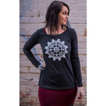 BoomBox Gears Long-Sleeve Ladies Scoop T-Shirt
