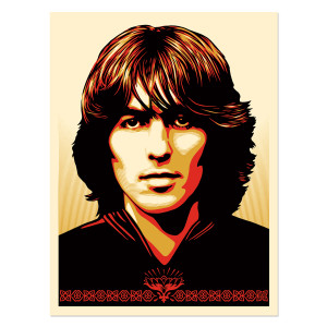 George Harrison Shepard Fairey Offset Lithograph (Unsigned & Unumbered)
