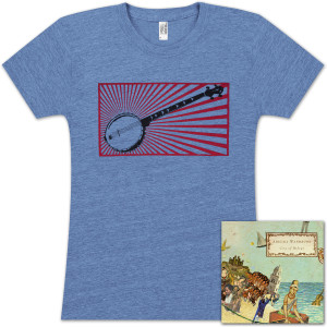 Abigail Washburn City of Refuge CD/Banjo Ladies T-Shirt Bundle