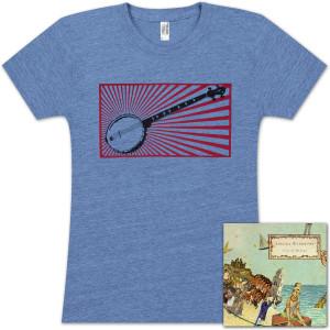 Abagail Washburn Refuge CD/Banjo Ladies T-Shirt Bundle