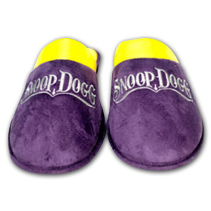 Snoop Dogg Men's House Slippers (Purple and Yellow)
