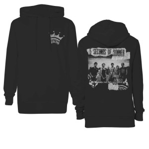 Crown Pocket Scrapbook Pullover Hoodie