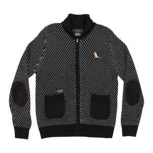 Waters & Army Langille Zip Up Sweater