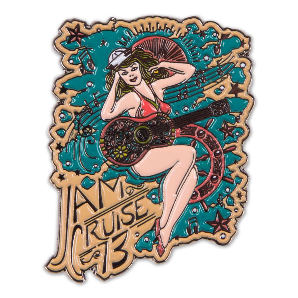 Jam Cruise Jeff Wood Sailor Girl Pin