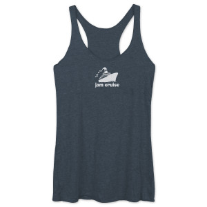 Jam Cruise Ladies Racerback Tank - Charcoal