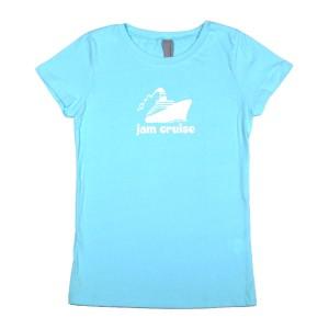 Girls Youth Logo Tee (Light Blue)