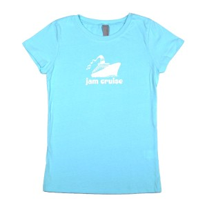 Girls Youth Logo Tee (Light Blue)