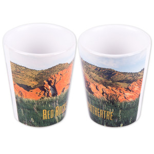 Red Rocks Ceramic Shotglass