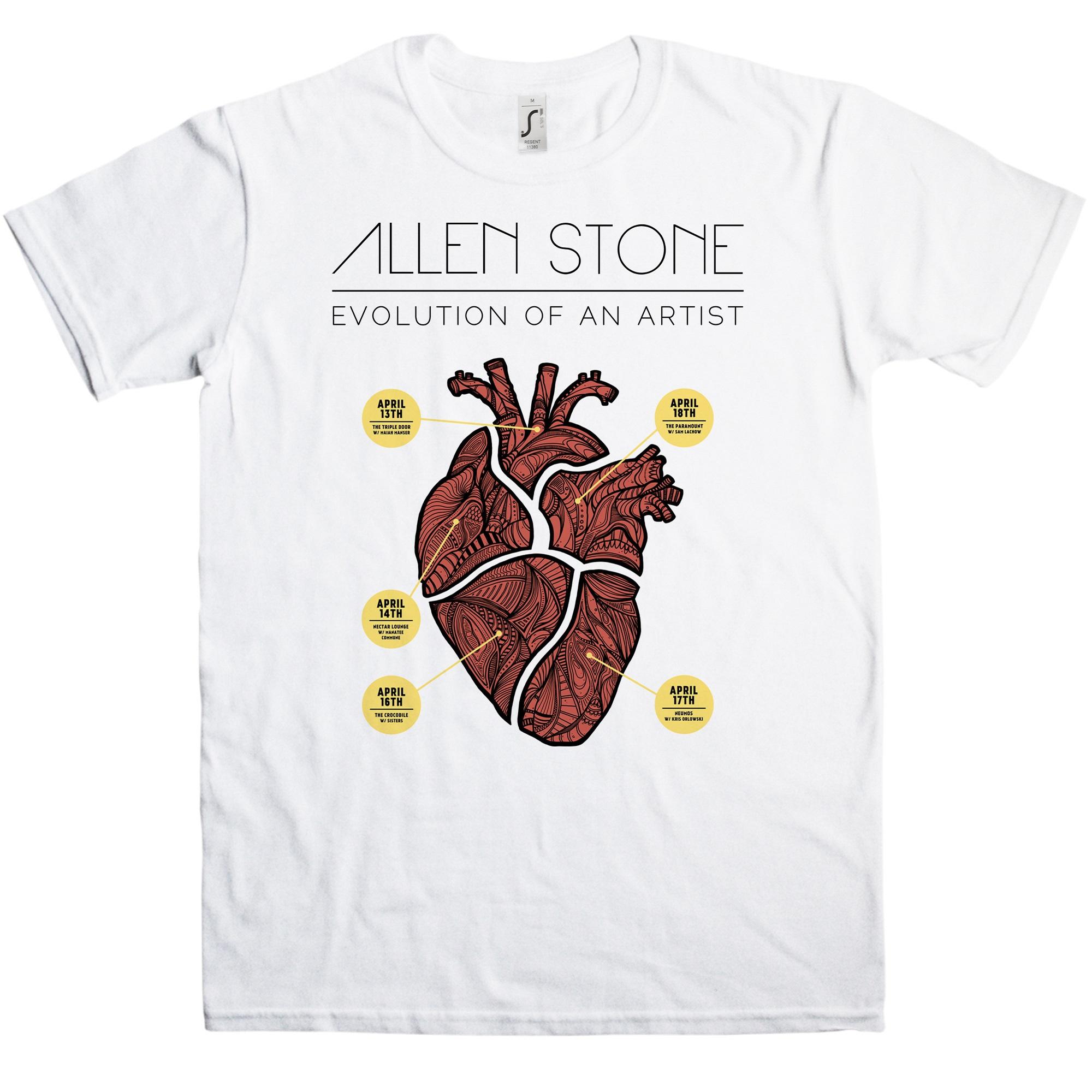 Allen Stone Evolution of an Artist T-Shirt