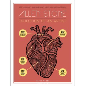 Allen Stone Evolution of an Artist Poster