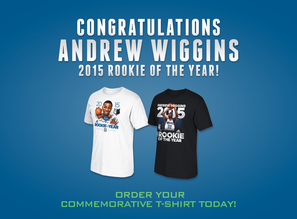 Andrew Wiggins: 2015 Rookie of the Year!