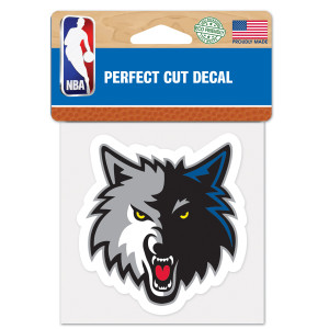 Timberwolves 4x4 Perfect Cut Decal