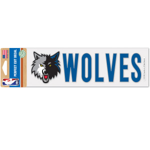 Timberwolves 3x10 Perfect Cut Decal (mascot)